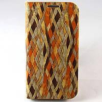 Чехол-книжка для Samsung Galaxy S4 i9500, Derundy, плетение, 3 /flip case/флип кейс /самсунг галакси, фото 1