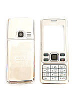 Корпус для Nokia 6300 с клавиатурой, Fashion Series, Special silver, хром /панель/крышка/накладка /нокиа