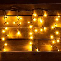 Электрогирлянда-штора LED уличная Yes! Fun, 150 ламп, IP 65, тепло-белая, черный провод