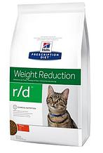 Лечебный корм для кошек HILL'S (Хиллс) PD Feline r/d снижение избыточного веса, 1,5 кг