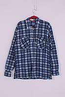 Рубашка мужская тёплая на флисе Longcom C19-4. Размер 5XL
