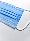 Сертифицированная медицинская маска штампованная трехслойная, для лица с зажимом для носа (150 штук), фото 3