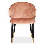 Стілець M-37 м'яке крісло метал, колір рожевий перли вельвет в стилі модерн для дому та HoReCa, фото 4