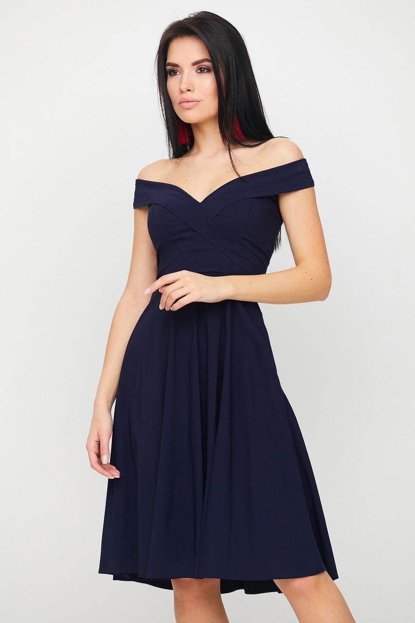Нарядне вечірнє плаття Luna, темно-синій