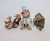 Фигурки обезьян из полистоуна