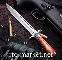 Нож складной, с длинным лезвием(финка)