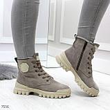 Зимние ботинки с натуральной замши 7556, фото 4