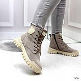 Зимние ботинки с натуральной замши 7556, фото 5