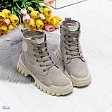 Зимние ботинки с натуральной замши 7556, фото 2