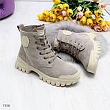 Зимние ботинки с натуральной замши 7556, фото 3