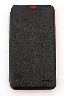 Чехол-книжка для Samsung Galaxy Note 3 N9000, боковой, Pielcedan, Черный с красным /flip case/флип кейс /самсунг галакси