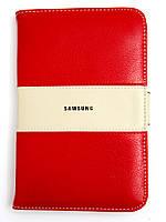 Чехол-книжка для Samsung P3100 Galaxy Tab 2 7.0 из Натуральной кожи, Красный /flip case/флип кейс, фото 1