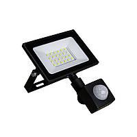 Світлодіодний прожектор з датчиком руху 30W ONE LED 6400K