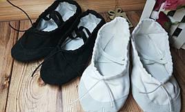 Балетки чешки для танцев гимнастики хореографии с кожаным носком