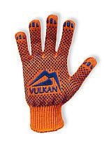 Перчатки рабочие Vulkan 8512, оранжевые, ПВХ точки