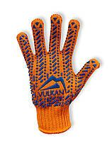 Перчатки рабочие Vulkan 5612LUX, оранжевые, ПВХ точки