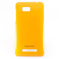 Чехол-накладка для HTC Desire 600, ONE SU, T528W, пластиковый, Buble Pack, Оранжевый /case/кейс /штс