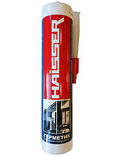 Герметик силиконовый, универсальный 280мл (белый), HAISSER