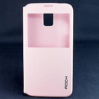 Чехол-книжка для Samsung Galaxy S5 G900h, Rock Uni, боковой, Розовый /flip case/флип кейс /самсунг галакси