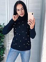 Жіночий теплий светр з красивою в'язкою. Виробництво Туреччина.