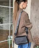 Женская кожаная сумка magicbag черная, фото 4