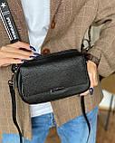 Женская кожаная сумка magicbag черная, фото 5