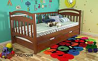 Кровать детская Алиса из натурального дерева. Яблоня., фото 1