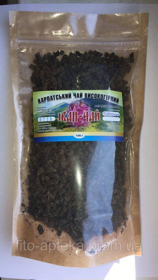 Иван-чай гранулированній зеленый (Карпатский высокогорный) 100грамм