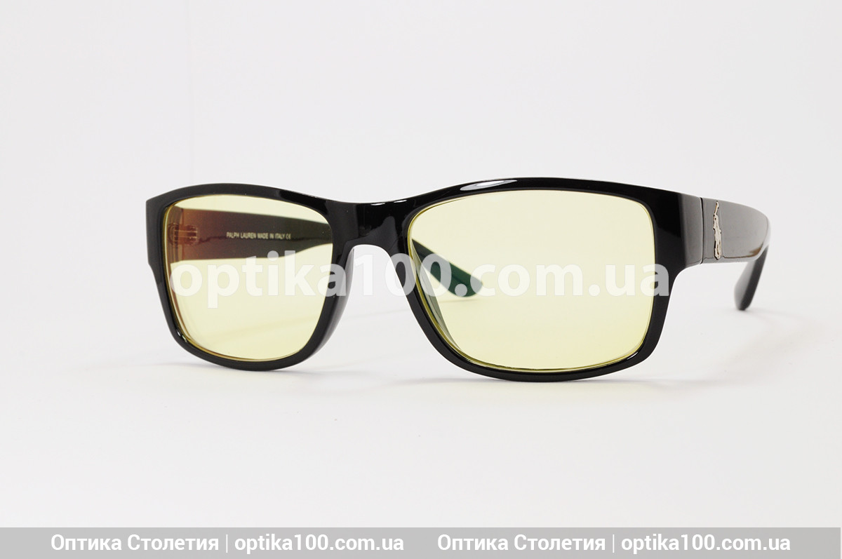 Очки для вождения ДЛЯ ЗРЕНИЯ с жёлтыми линзами. В стиле POLO. Диоптрии от 0 до  ± 6,0