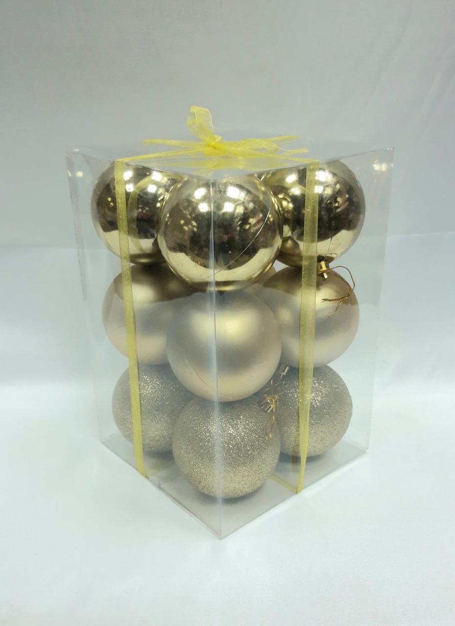 Елочные шары диаметр 8 см ,12 штук в упаковке