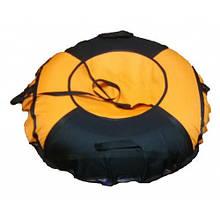 Тюбинг (Надувные Санки-Ватрушка) D-100 1.1 Черно-Оранжевый