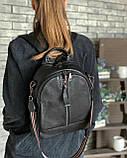 Женский кожаный рюкзак magicbag черный, фото 2