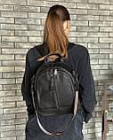 Женский кожаный рюкзак magicbag черный, фото 4