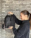 Женский кожаный рюкзак magicbag черный, фото 5