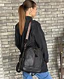 Женский кожаный рюкзак magicbag черный, фото 3