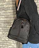 Женский кожаный рюкзак magicbag черный, фото 6