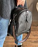 Женский кожаный рюкзак magicbag черный, фото 7