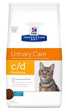 Лечебный корм для кошек HILL'S (Хиллс) PD Feline c/d предупреждение струвитов, лечение циститов (океаническая