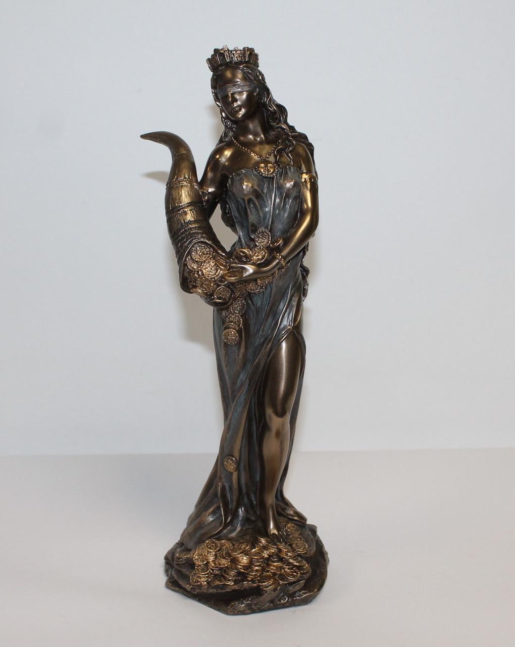 Статуэтка Фортуна с рогом изобилия Veronese 28 см 71833A4, символ удачи