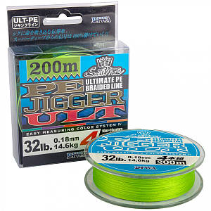 Плетёнка Diwa Ultimate PE Jigger Braided Line 200м, Светло-Зеленый 0.20