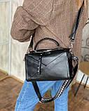 Женская кожаная сумка magicbag черная, фото 2
