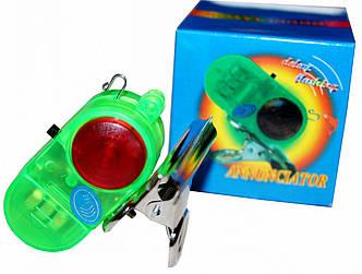 Сигналізатор клювання з металевої кліпсою