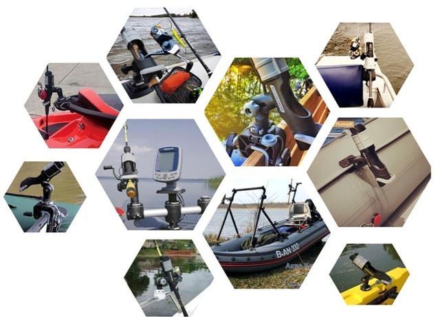 Держатель для удочки на лодку ПВХ - держатель удилища Borika FASTen ht213 - держатель для удилища