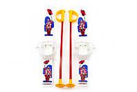 Лыжи с палками Marmat детские пластиковые длина-70см белый