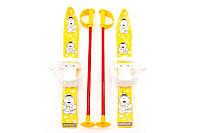 Лыжи с палками Marmat детские пластиковые длина-70см желтый