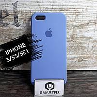 Силиконовый чехол для iPhone 5/5S/SE Soft Голубой, фото 1