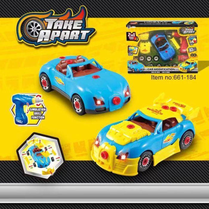 Автоконструктор с шуруповертом, детский, Take Apart 2 в 1 (свет, звук) 30 деталей (661-184)