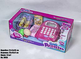 Игрушечный кассовый аппарат 806A розовый