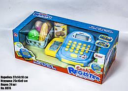 Игрушечный кассовый аппарат 807A голубой
