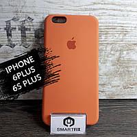 Силиконовый чехол для iPhone 6 Plus / 6S Plus Soft Оранжевый, фото 1